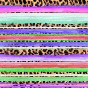 serape leopard purples