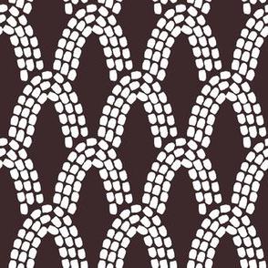Arcs // white on black