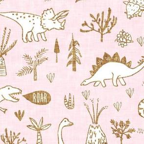 Happy Jurassic (pink) MED