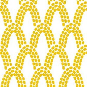 Arcs // mustard on white