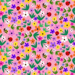 Fancy Flower Garden -peach