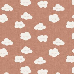 Rose Sleepy clouds linen