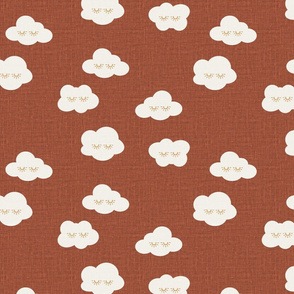 Red Clay Sleepy clouds linen