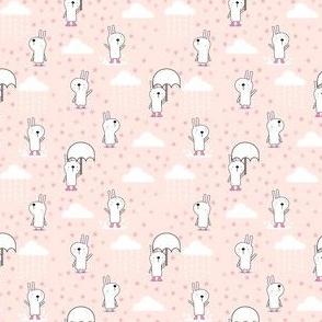 Bunnies in the rain