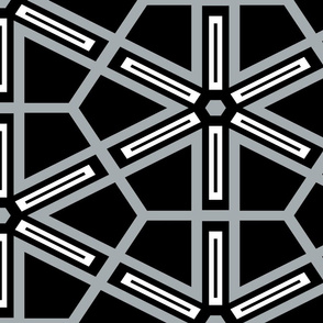 The Black and the Gray: Geometric Starburst