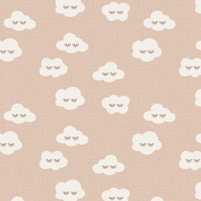 Barely pink Sleepy clouds linen