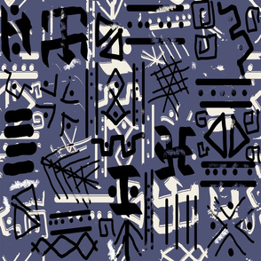 ethnic style sketch bue violet sm