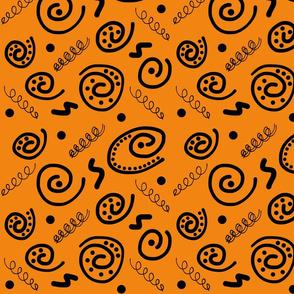 Sea Swirls (Primordial Abstract) - Orange clay