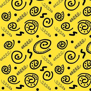 Sea Swirls (Primordial Abstract) - yellow sunshine