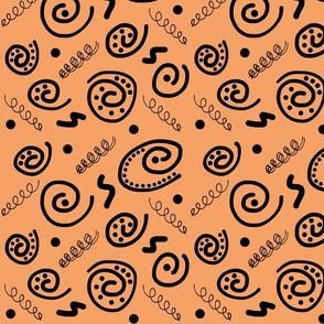 Sea Swirls (Primordial Abstract) - caramel