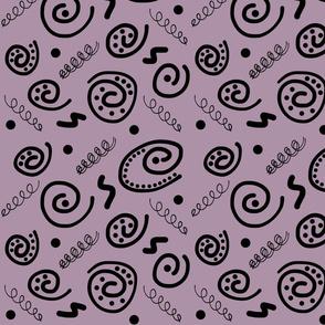 Sea Swirls (Primordial Abstract) - dusky purple