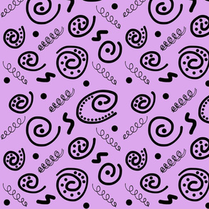 Sea Swirls (Primordial Abstract) - violet