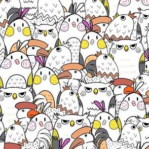 Bunch Of Backyard Birds