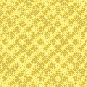 Herringbone // white on mustard