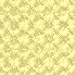 Herringbone // mustard on white