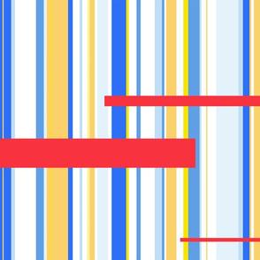 minimalist red lines