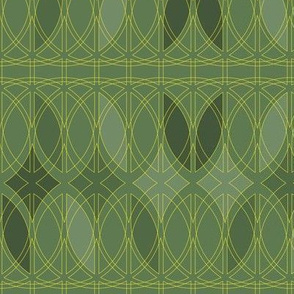 curved abstract green