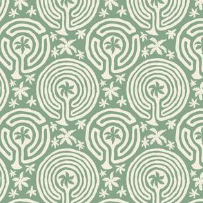 palm garden labyrinth 8x8 light