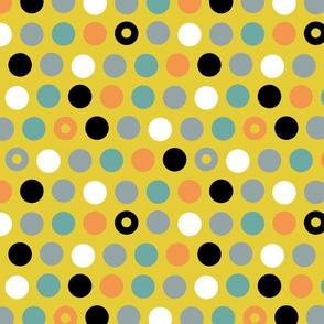 Minimalist Bird Dots Coordinate