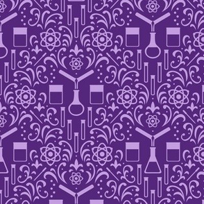 Mad Science Damask (Purple)