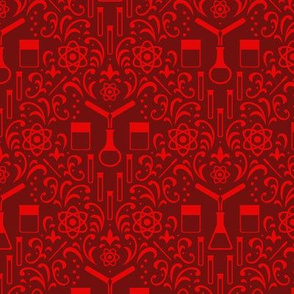 Mad Science Damask (Red)
