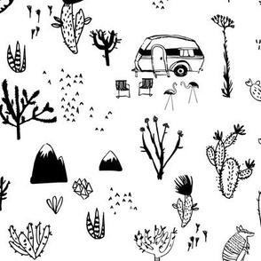 Happy Desert (black and white) MED