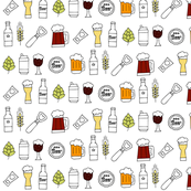 Beer seamless pattern colors - Large