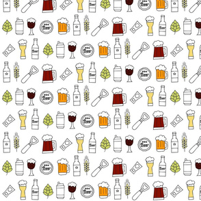 Beer seamless pattern colors - Medium