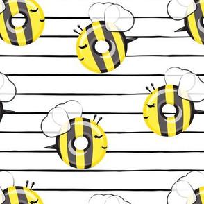 bee donuts - black stripes - doughnuts  - LAD19