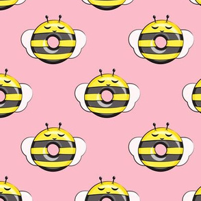 bee donuts - pink - doughnuts  - LAD19