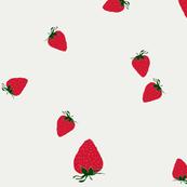 Strawberries on beige
