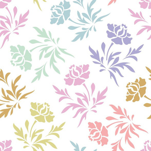 Pastel Stancil Vector seamless pattern