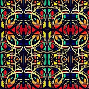Red Yellow and Blue Geometric Abstract Pattern