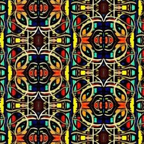 Stained Glass Style Geometric Colorful Abstract