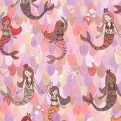 pink mermaids