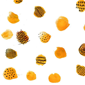 MINIMAL ABSTRACT DOTS YELLOW