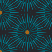 ★ DARK SUNSHINE ★ Teal, Ochre, Black - Large Scale / Collection : Abstract Geometric Prints