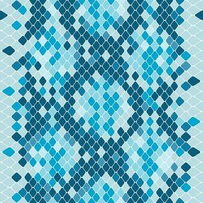 Snake Skin Teal Light Blue White, Animal Print Snake, Boa Skin, Snake Skin Pattern
