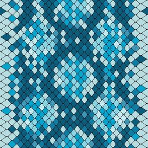 Snake Skin Teal Light Blue, Animal Print Snake, Boa Skin, Snake Skin Pattern