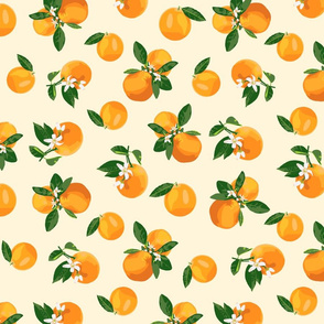 Scattered orange blossoms