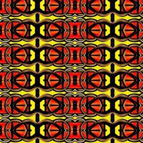 Red Orange and Yellow Interlocking Shapes