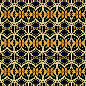 Blue Yellow Orange Interlock Circles