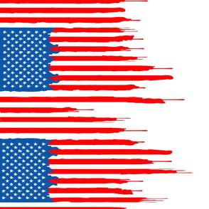 dripping US flag border print