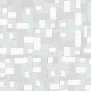 Minimalist Simplicity     Neutrals + Pale Mint