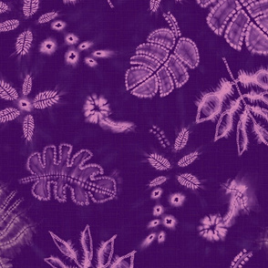 shibori jungle purple