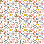 WOODLAND FLOWERS white 6""