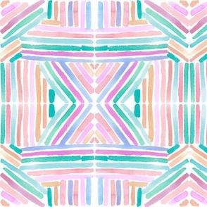 stripe rainbow mirror blush collection