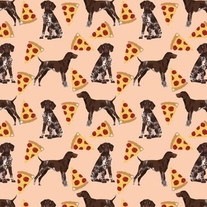 german shorthaired pointer (Small) pizza fabric pointer dog design