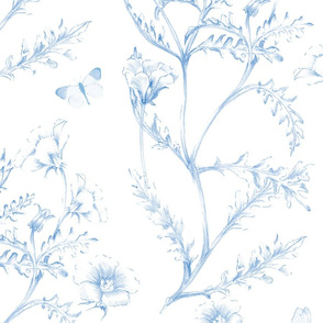 Wild Meadow Toile neptune