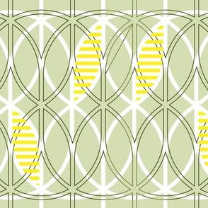 curved abstract light green